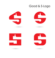 Good Logo and S- letter icon abstract logo design vector image