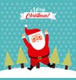 merry christmas jump santa claus funny vector image