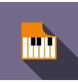 Piano keys icon flat style vector image