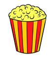 popcorn icon cartoon vector image
