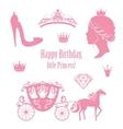 Princess Cinderella set collections vector image