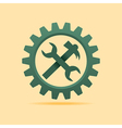 Tools icon inside the cog wheel stock vector image