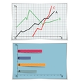 two graphs set vector image