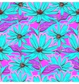 Bright floral seamless pattern wallpaper vector image