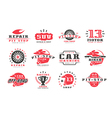 Car races and service badges vector image