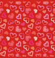 Love theme hearts valentines day seamless pattern vector image