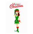 Christmas Santa elf vector image