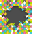 Bright Jigsaw Puzzle Background vector image