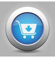 blue button - shopping cart add vector image