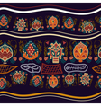 Seamless ethnic pattern with fantastic flowers vector image vector image