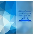Abstract mosaic blue color behind a glass vector image