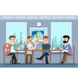 Business meeting Team working office vector image
