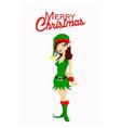Christmas Santa elf vector image