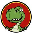 Dinosaur sign vector image