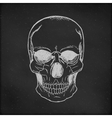 Hand drawn Skull Chalkboard Background vector image