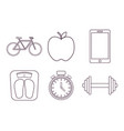 healthy and fitness lifestyle design vector image