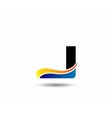 letter J logo icons design template elements vector image