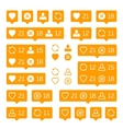 like follower comment vector image