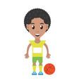 man playing basketball cartoon vector image