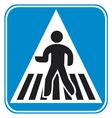 pedestrian crossing sign vector image