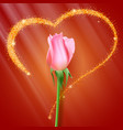 realistic rose bud close-up the flower bud of the vector image