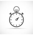Stopwatch icon on white vector image