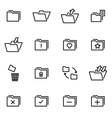 thin line icons - folder vector image