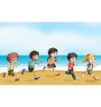 Running children Vector Image