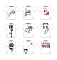 Hipsters doodle style fashionable t-shirts designs vector image vector image