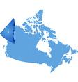 Map of Canada - Yukon Territory vector image