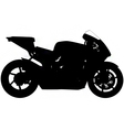 sports motorbike silhouette vector image vector image