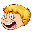 A head of a boy running against the clock vector image