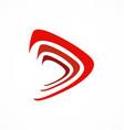 abstract play button icon logo vector image