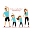 Active family vector image