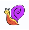 Cute cartoon snail isolated on the white vector image