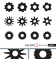 Gear Icons Design Elements Logo Elements Set 2 vector image