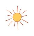 Hand-drawn sun vector image