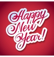 Happy new year calligraphic inscription on a vector image