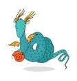 Magic dragon and shell on a white background vector image