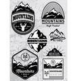 set of templates for emblems with mountains vector image