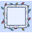 Square wooden frame vector image