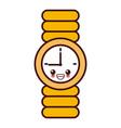 wristwatch clock isolated kawaii cartoon vector image