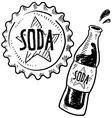doodle soda bottle cap vector image vector image