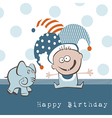 Happy Birthday Elephant vector image vector image