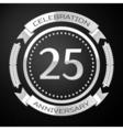 Twenty five years anniversary celebration with vector image