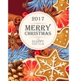 Christmas card with mulled wine ingredients vector image