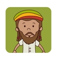 jamaican man character icon vector image