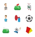Competition football icons set cartoon style vector image