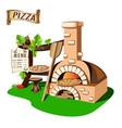 pizzeria vector image