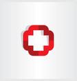 medical cross symbol icon logo element vector image